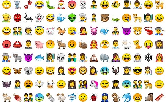 emotikony w Android 8