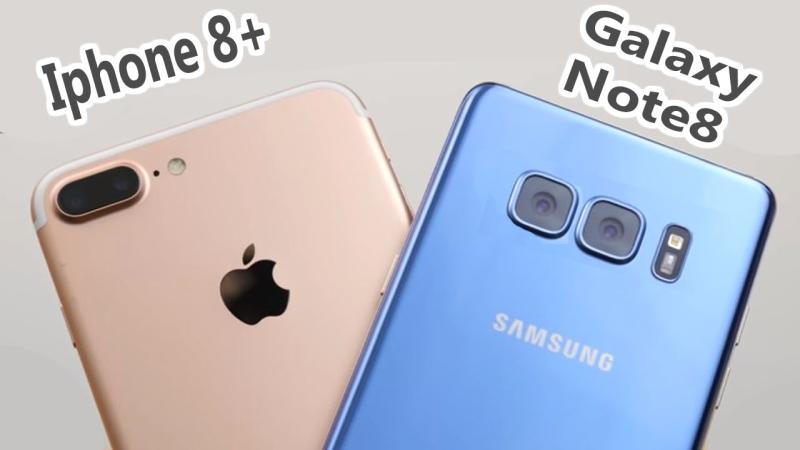 porownanie Galaxy Note 8 i iphone 8